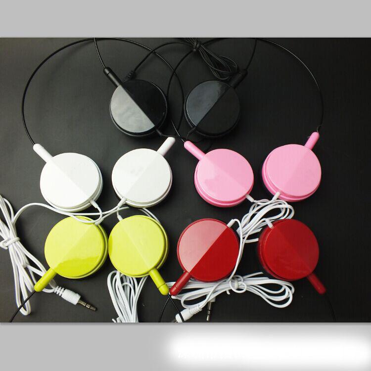 头戴式耳机通用mp3/MP4手机电脑笔记本可爱运动袋装耳机